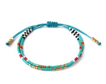 Bohemian bracelet Wrap Boho bracelet, wrap bracelet, cord bracelet, beaded wrap bracelet ,beaded bracelet