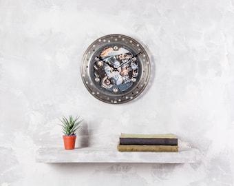 Custom wall clock, motorcycle clock, motorcycle gift, photo clock, unique clock, unique gift, mancave clock, wall decor, made to order