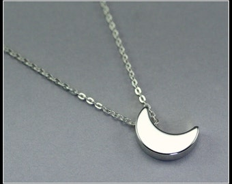 Moon necklace, sterling silver Moon Necklace, silver moon crescent necklace, Best Friend gift, Girl Friend Gift, Christmas
