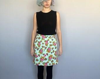 80s Floral Skirt