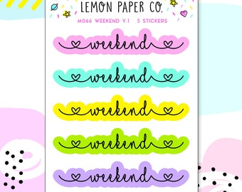 M066 Weekend V.1 // Planner Stickers