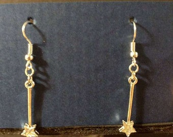 Silver fairy wand with silver fishhook