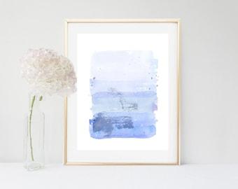 Blue Abstract, Art Print, Watercolor Print, Abstract Watercolour, Blue Wall Art, Printable Art, Home Decor, Wall Decor, Modern Art