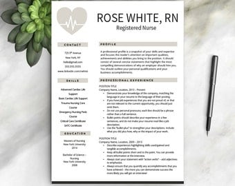 nurse resume template free cover letter nurse resume nurse cv one - Professional Nurse Resume Template