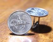 Delaware Cufflinks, Delaware Quarter Coin Cuff Links