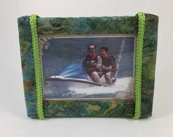 Batik Fabric Covered Picture Frame