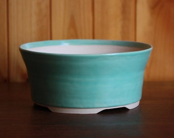Mint green planter pot