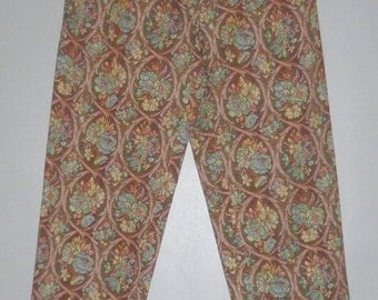 Vintage 1980's High Waisted Tapestry Peg Trousers UK 8 - 10
