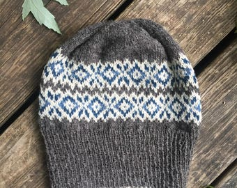 Fair Isle Wool Hat