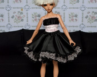 Dress Thyam black and pale pink [Minifee = MSD 1/4]