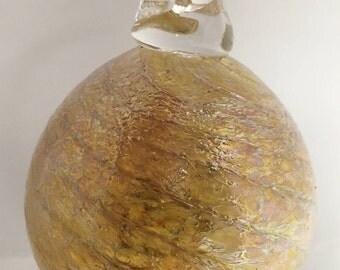 Golden Glass Ornament