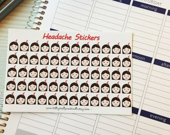 Headache Planner Stickers