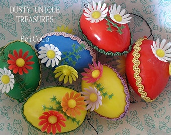 Vintage Easter eggs Retro