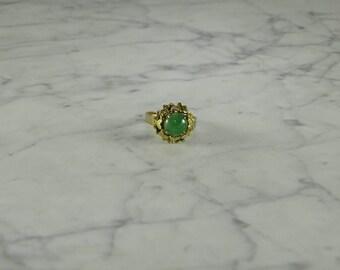 Jade / 14K Gold Ring ( size 6.5 )