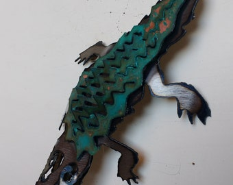 Patina Alligator Ornament