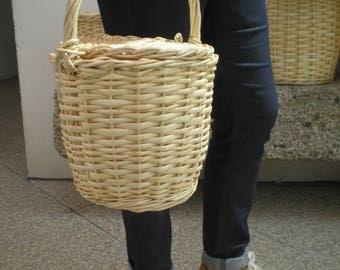 Medium Size Jane Birkin Basket-Wicker basket- Wicker Jane Birkin Basket