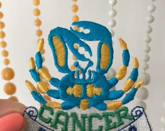 Vintage Cancer Zodiac Patch