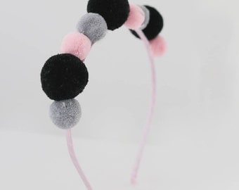 Pom pom headband - Hair accessories - Girls headband - Headband