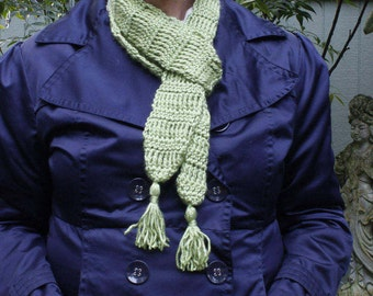 Green skinny scarf, skinny spring scarf, skinny scarf trend,  skinny scarf,   long skinny scarf, trendy scarf, gifts under 20