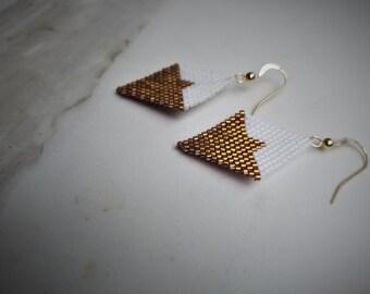 Bronze Diamond Earrings