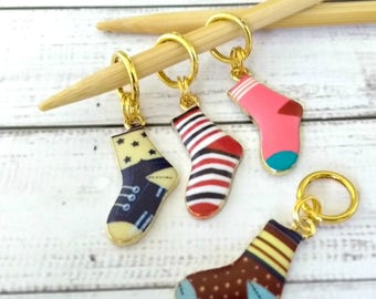 sock stitch markers - socks stitchmarkers - place holder notions - knitting accessories - knitting crochet notions