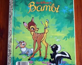 Walt Disney's Bambi/a Little Golden Book/Felix Salten/Walt Disney Productions/Bambi, Thumper, Flower/Children's Hardcover illustrated book