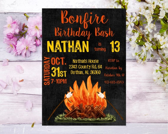 Bonfire Birthday Invitation Birthday Invite Backyard Bonfire. Excel Timesheet Template With Tasks. Building Maintenance Log Template. Small Business Plan Template. Timeline Template For Word. University Of Texas Austin Graduate Programs. Medicine Bottle Label Template. Shopping List Template. Create Your Own Newspaper
