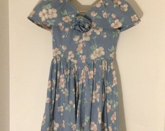 1980's floral dress- x small