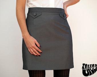 60s Skirt, 60's Skirt, Classic Skirt, Classic grey skirt