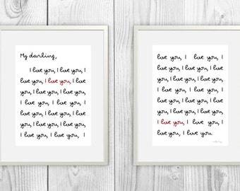My darling, I love you,  love letter, hope, faith, inspiration, motivation, printable, instant download, 8 by 10