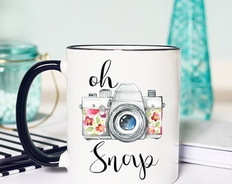 Photographer Gift, Photographer Mug, Photography Gift, Camera, Oh Snap, Camera Mug, Photography Mug, wedding photography, photography gifts