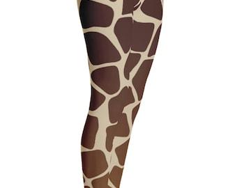 Giraffe Leggings - Giraffe Print Leggings - Giraffe Costume - Christmas Gift - Womens Leggings - Giraffe Tights - Kids Leggings - Girls