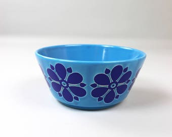 Vintage Pottery Bowl, Bowl, 70s retro dishes, made in Germany, blue shell