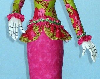 AB510E - La Catrina Cloth Doll Pattern