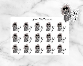 Lazy Day Stickers / Day Off planner stickers / ECLP