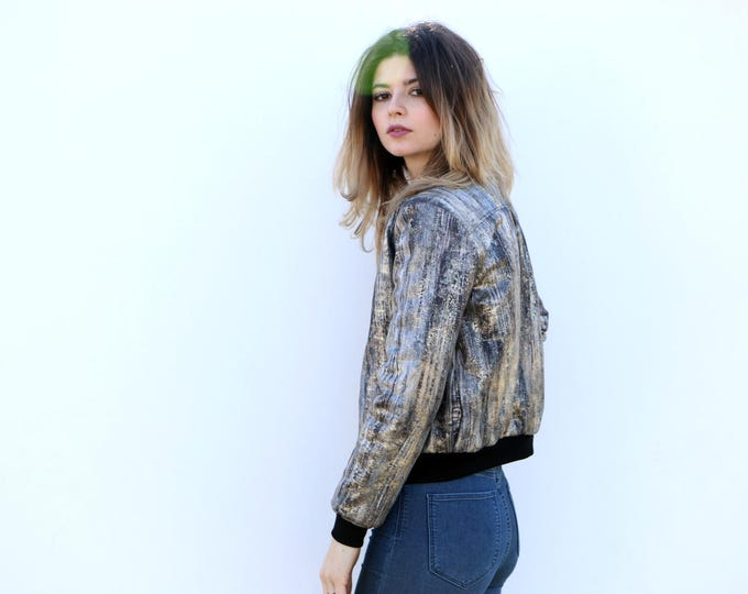 SALE/ Silver Bomber Jacket