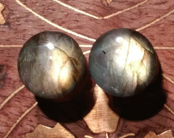 Pair of 00g (10mm) Labradorite Stone Plugs AAA Grade