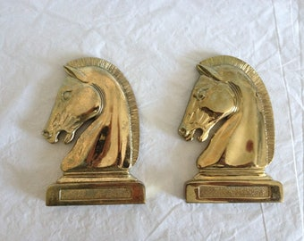 "Brass Horse Heads 5-3/8"" Tall"