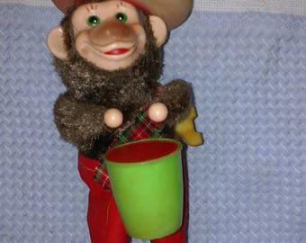 Vintage Wind Up Drummer Monkey