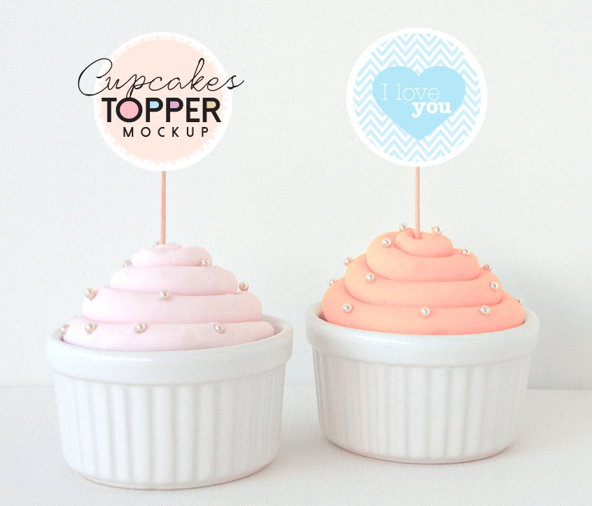 Free Cake Topper Mock Up