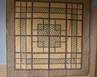 Art Deco Quilt / Throw / Lap Quilt