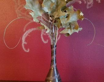 Napcoware vintage small vase, brown
