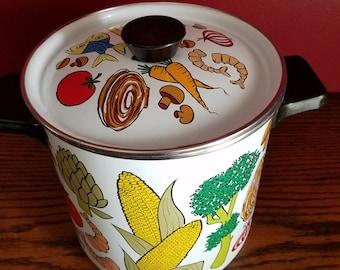 Retro Steamer Pot, Vegetable Pot, Stock Pot, San Ignacio design