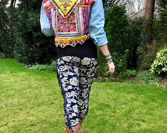 Gypsy Festival Jacket with Vintage Indian Embroideries, Peruvian Fabric & Afghan Beadwork