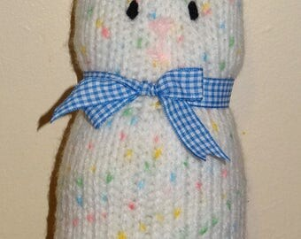 Knitted Bunny Rabbit Toy
