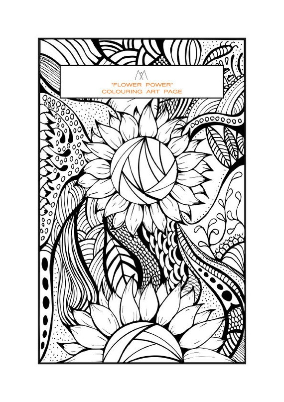 flower power coloring pages - photo#33