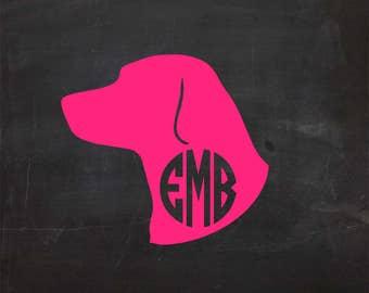 Labrador Head Monogram