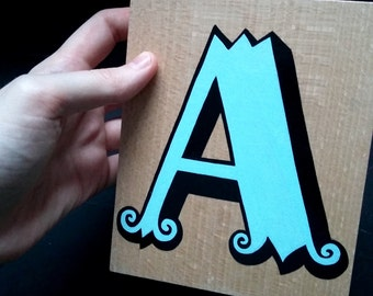 Hand-painted decorative letter A