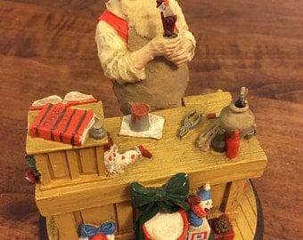 "Rockwell Heirloom Santa Collection ""Santa's Workshop"" Premier edition"