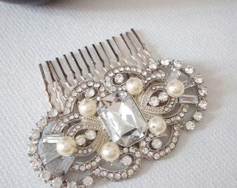 Art Deco Hair Comb, Art Deco comb, Art Deco Bridal Comb, Bridal Hair Comb, Vintage Wedding Hair Comb, Vintage Crystal Art Deco Headpiece